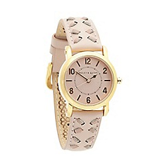 Bailey & Quinn - Ladies pink textured strap wrist watch