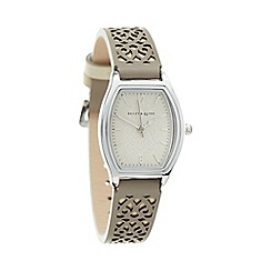 Bailey & Quinn - Ladies taupe laser cut tonneau dial watch