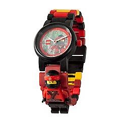 LEGO - Kid's multi-coloured 'Lego Ninjago Movie' Kai minifigure link watch