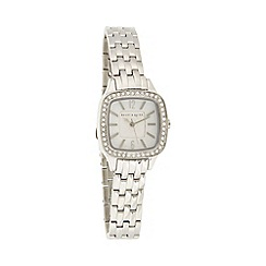 Bailey & Quinn - Ladies silver pave bezel bracelet watch