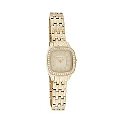 Bailey & Quinn - Ladies gold pave bezel bracelet watch
