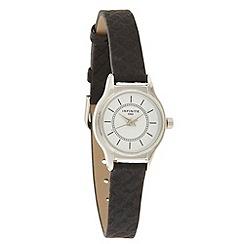 Infinite - Ladies black snakeskin strap watch