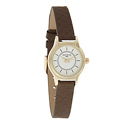 Infinite - Ladies brown snakeskin strap watch