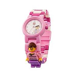 LEGO - Kid's pink 'Lego' classic minifigure link watch