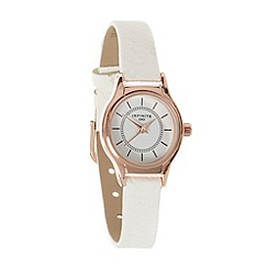 Infinite - Ladies white snakeskin strap watch