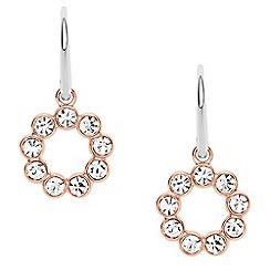 Fossil - Ladies glitz drop two tone earrings