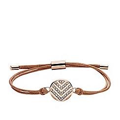 Fossil - Rose gold 'Vintage Glitz' slider bracelet