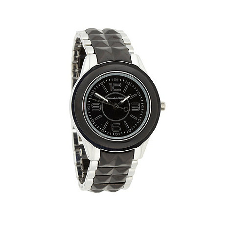 RJR.John Rocha - Designer ladies black studded enamel watch