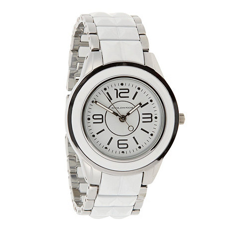 RJR.John Rocha - Designer ladies white enamel bezel watch