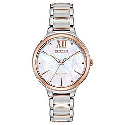 Citizen - Ladies multi-coloured 'Eco-Drive' bracelet watch EM0556-87D