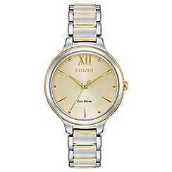 Citizen - Ladies multi-coloured 'Eco-Drive' bracelet watch EM0554-82X
