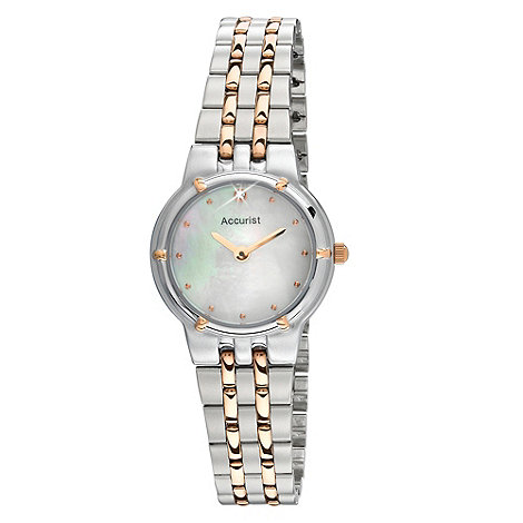 Accurist - Ladies bracelet watch with mother of pearl dial