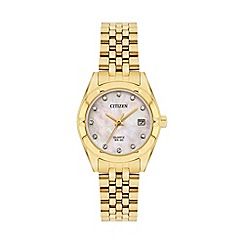 Citizen - Ladies gold bracelet watch EU6052-53D