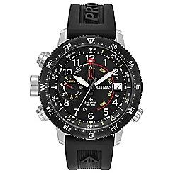 Citizen - Men's black 'Eco-Drive - Promaster Altichron' watch BN4044-15E