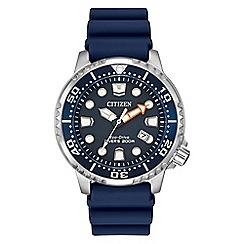 Citizen - Men's blue 'Eco-Drive' divers watch BN0151-09L