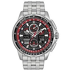 Citizen - Men's silver 'Eco-Drive - Red Arrows Skyhawk' watch JY8059-57E
