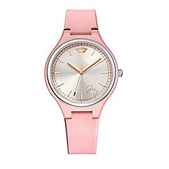 Juicy Couture - Ladies daydreamer pink silicone strap watch