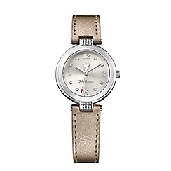 Juicy Couture - Ladies sienna watch with silver leather strap