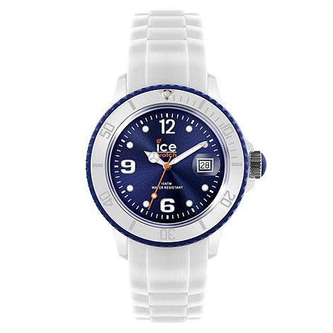 Ice - Unisex watch white - white / blue big
