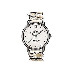 Coach - Ladies white 'Delancey' watch