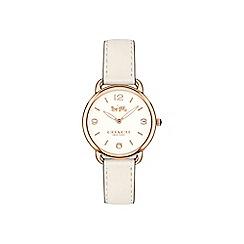 Coach - Ladies white 'Delancey Slim' watch
