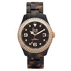 ICE - Unisex watch elegant tortoise shell effect bracelet