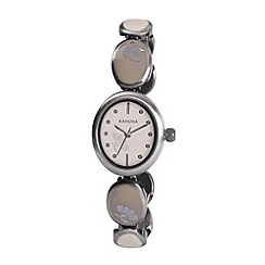 Kahuna - Ladies cream dial enamel insert bracelet watch