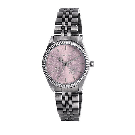 Kahuna - Ladies pink dial silver bracelet watch