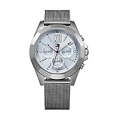 Tommy Hilfiger - Ladies stainless steel grey IP mesh bracelet watch 1781846
