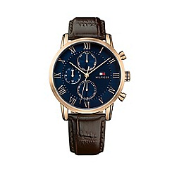 Tommy Hilfiger - Gents brown leather strap watch 1791399