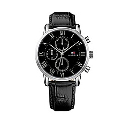 Tommy Hilfiger - Gents black leather strap watch 1791401