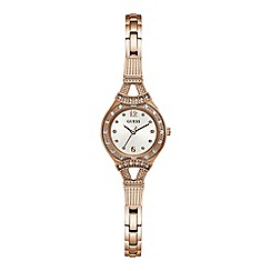 Guess - Ladies rose gold analogue watch W1032L3