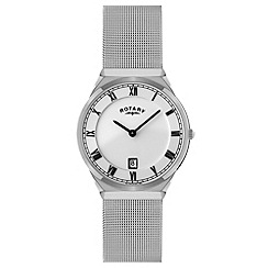 Rotary - Men's white case mesh watch