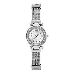 Guess - Ladies silver analogue watch W1009L1