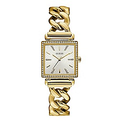 Guess - Ladies gold analogue watch W1030L2