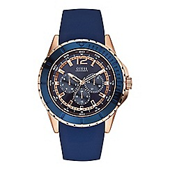 Guess - Men's blue watch W0485G1