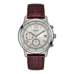 Guess - Men's red chronograph watch W1000G2