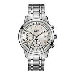 Guess - Men's silver chronograph watch W1001G1