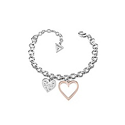 Guess - Multi-coloured 'Heart In Heart' bracelet