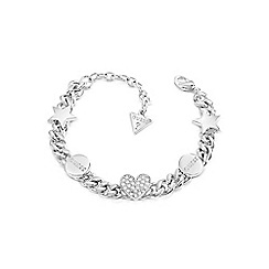Guess - Silver 'Love Chain' bracelet