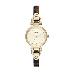 Fossil - Ladies analogue bangle watch from the georgia range