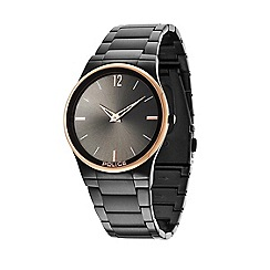 Police - Unisex black and rose gold bezel black bracelet horizon watch