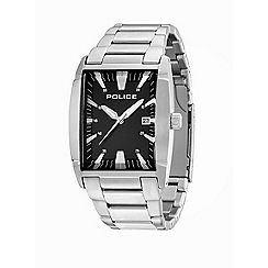 Police - Men's new avenue stainless steel bracelet watch with black dial