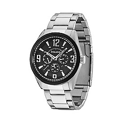 Police - Men's atlanta stainless steel watch with black multifunction dial