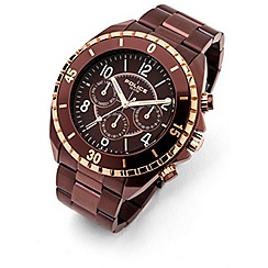 Police - Men's miami II brown multi-function watch