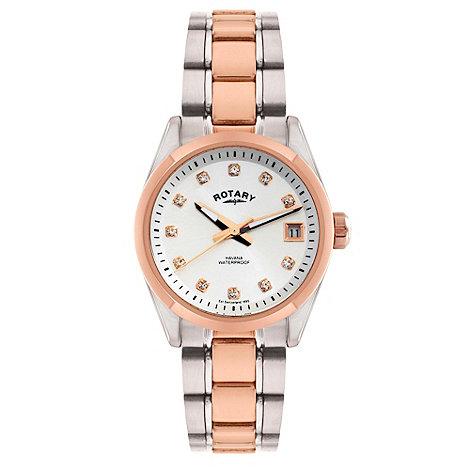 Rotary - Ladies two tone rose bracelet watch