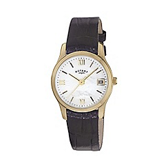 Rotary - Ladies gold plated strap watch ls02368/41