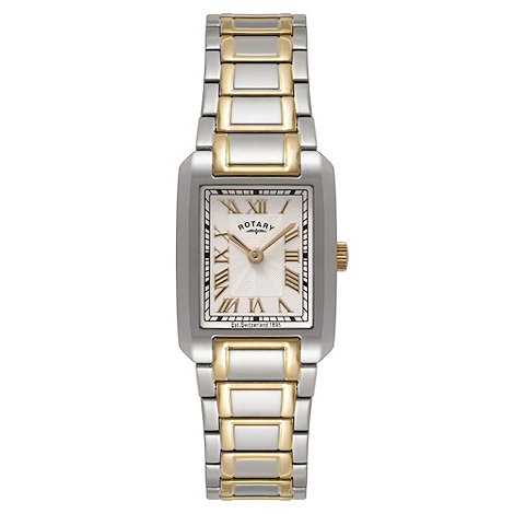 Rotary - Ladies two tone gold dress watch