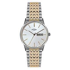 Rotary - Men's two tone gold dress watch