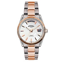 Rotary - Men's two tone rose dress watch